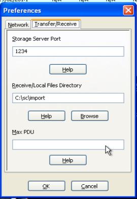 Скриншот вкладки Transfer/Reseive